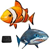 Air Flying Clown Fish and Shark Toy Remote Control (Set of 2)