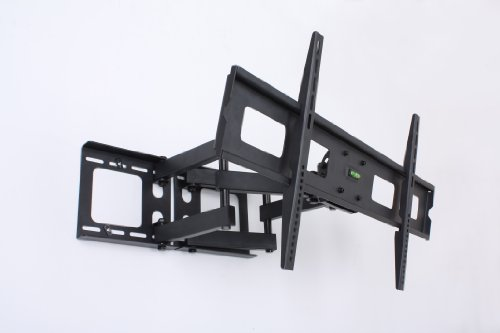 Displays2Go 4Ar3763Bkc Corner Lcd Tv Wall Mounting Bracket For 37-63 Inches Screens, Black Metal