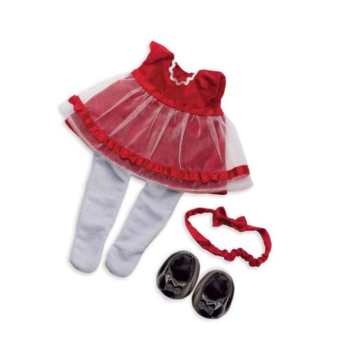 Manhattan Toy Baby Stella Fanciful Frills Holiday Dress Baby Doll Clothing front-789143