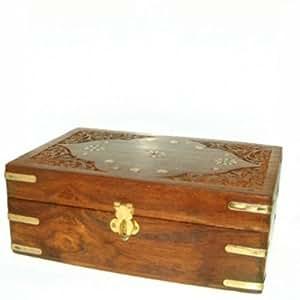 Aromathèque Huiles Essentielles - Coffret en bois de Palissandre pour 24 huiles