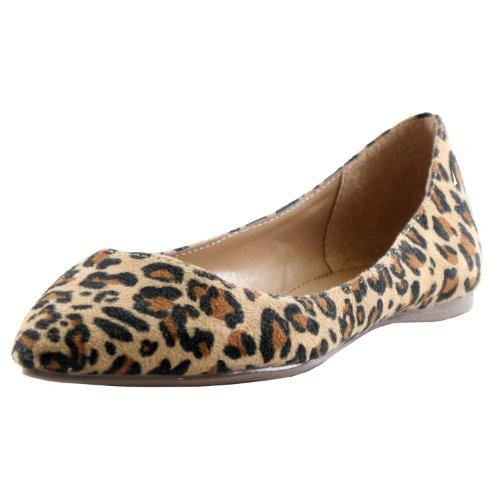 Breckelles Talia-01S Ballet Ballet-Flats,8 B(M) US,Premium Leopard Suede