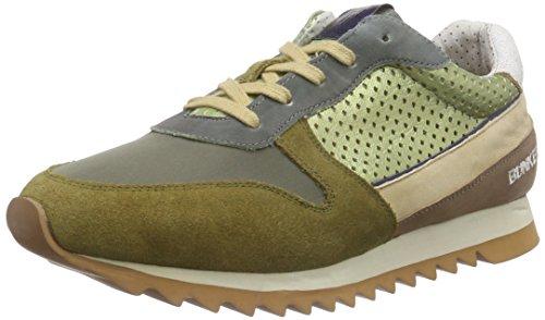 BUNKERSneaker - Scarpe da Ginnastica Basse Uomo , Verde (Grün (KAKY)), 43