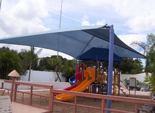 Stand Alone Shade Structure 44 Foot x 40 Foot