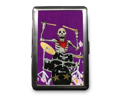 Day of the Dead Decorated ID Cigarette Case Wallet - CD121