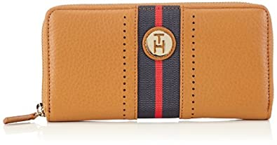 Tommy Hilfiger WAVERLY SLG LARGE ZIP AROUND BW56923354 Damen Geldbörsen 19x11x2 cm (B x H x T), Braun (TAN 950)