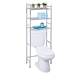 Honey-Can-Do BTH-05079 3-Tier Metal Bathroom Shelf Space Saver, 9.45 x 22.83 x 59.84, Chrome by Honey-Can-Do