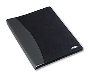 Rexel Soft Touch Display Book A4 Black Combo (24 Pockets)