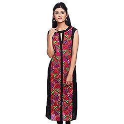 Saamarth Impex Women Cotton Multi Color Color bandhej Work Round Neck Pakistani Style Kurti SI-2846