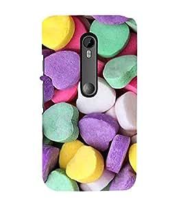 EPICCASE Heart Candy Mobile Back Case Cover For Moto X Force (Designer Case)