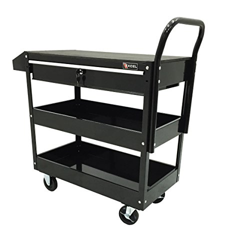 Excel TC301C-Black 36-Inch Steel Tool Cart, Black