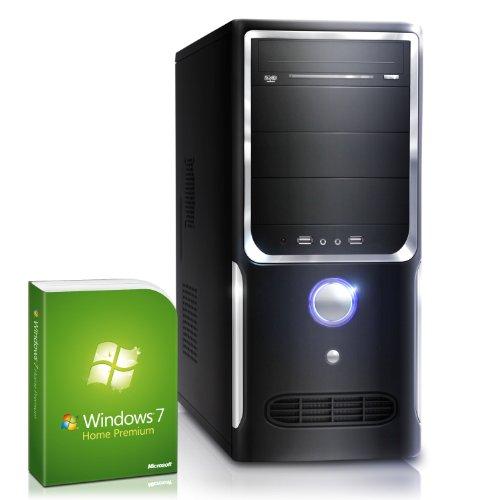 CSL Unité Centrale Speed A21005fH comp. Windows 7 – Pentium 2x 3200 MHz, RAM 8Go, HDD 500Go, Radeon HD 5450, USB 3.0