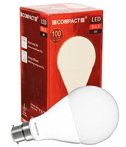 Compact 18W B22 LED Bulb (Cool White)