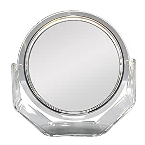 zadro 9 makeup magnifying vanity mirror chrome surround light dual arm 7x. Black Bedroom Furniture Sets. Home Design Ideas