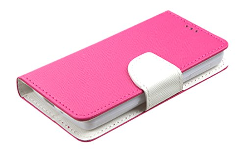 MyBat Wallet Case for ZTE N817 - Retail Packaging - Pink/White - 1