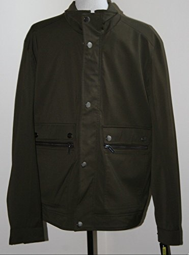 Michael Kors Mens Fully Lined Winter Coat Large Olive Green