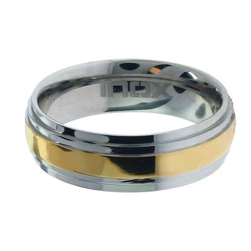 Size 13 - Inox Jewelry 316L Stainless Steel pvd Gold Ring