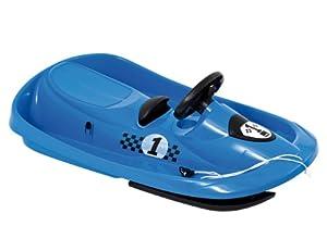 Hamax Sno Formel Childrens Steerable Sledge - 95 x 53 x 15, Blue (Light Blue)