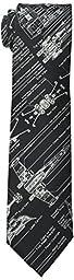 Star Wars Men\'s Blue Print Tie, Black, One Size