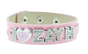 Pink One Direction I Love Zayn Bracelet, 1D Bracelet, 1D Wristband, 1D Wrist Band, One Direction Bracelet by Hinky Imports