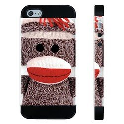 Houseofcases Sock Monkey iPhone 4/4S Case - Hybrid Plastic And Durable Silicon iPhone 4/4S Case