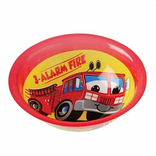 Dozen Firefighter Fireman Theme Plastic Party Bowls - 1