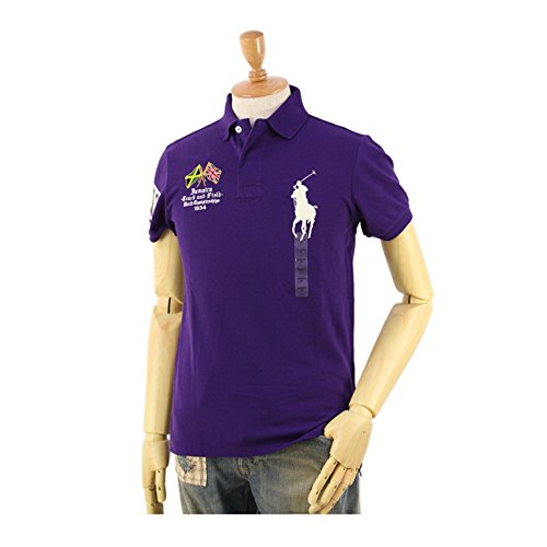 Polo Ralph Lauren Men Jamaica Custom Fit Big Pony Logo T-Shirt, Purple, S