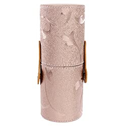 Generic Makeup Brush Holder Cosmetic Brush Case Cylinder Case Storage Tube Rose gold