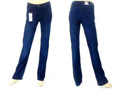 Lee Ladies Jeans: Marion Girls Regular Straight stretch luxe dark