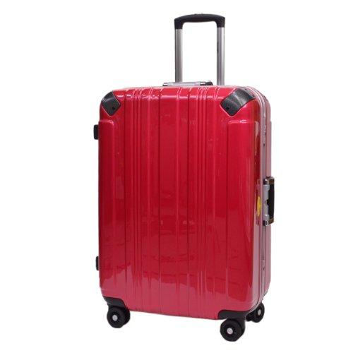 SPALDING スポルディングスーツケース TSAロック SSL ハードキャリー 双輪 SP-0655-71 (レッド)