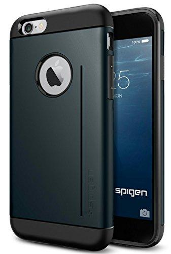 iPhone 6 ケース, Spigen® [スタンド機能]  タフ・アーマーS *Apple iPhone 4.7* (2014) The New iPhone アイフォン6 (国内正規品) (メタル・スレート SGP11043)