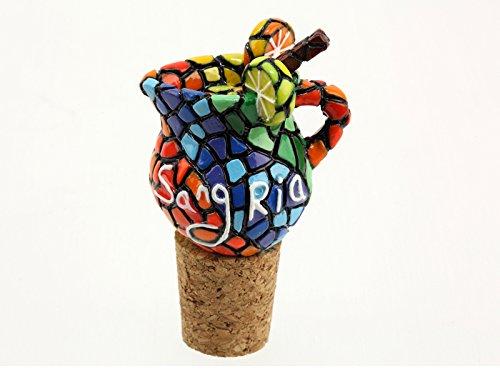 BOUCHON de bouteille en liège ceramique Mosaique Gaudi Sangria Espagne