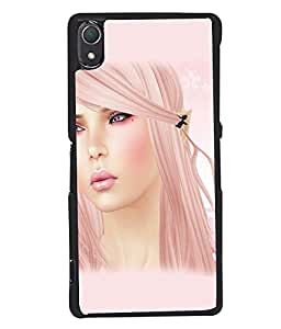 Fuson Sweet Girl with Text Back Case Cover for SONY XPERIA Z2 - D3781