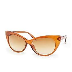 Laurels UV Protected Cat-Eye Women's Sunglasses -(CAT-0202|Brown Lens)