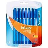 Paper Mate InkJoy 100ST Ballpoint Pen, Capped, Blue, 8-Pack
