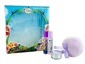Coffret Fée clochette Disney : 2 Eaux de Toilette 8ml, 1 poudre scintillante parfumée et sa houppette