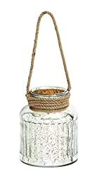 Benzara Classy Styled Attractive Glass Rope Lantern