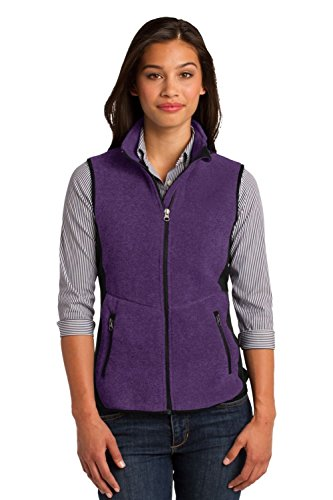 Port Authority Ladies R-Tek Pro Fleece Full-Zip Vest>S Purpl