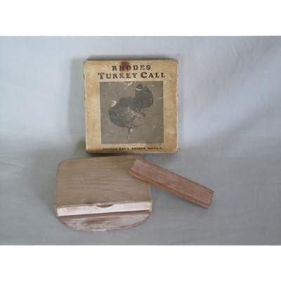Amazon.com : RARE Vintage Rhodes Wooden Turkey Call w/ Original Box