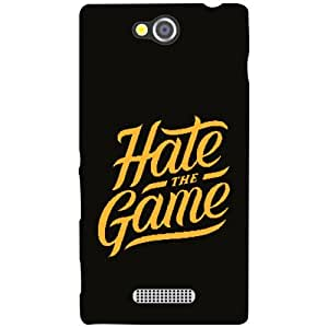 Sony Xperia C Back Cover - Hate The Game Designer Cases