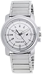 Fastrack Economy Analog White Dial Mens Watch - NE3039SM01