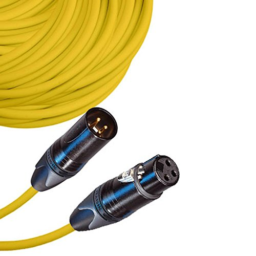 Male To Female Xlr Cable With Neutrik Nc3 Connectors And Premium 20Ga Wire - 125: Ft Long: Yellow