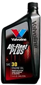 Valvoline (VV396-6PK) All-Fleet Plus SAE 30 Motor Oil - 1 Quart Bottle, (Case of 6)