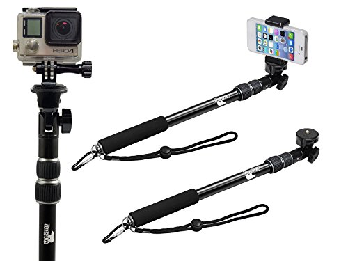 Selfie Stick - Pole - Monopod Selfie Stick - Best Selfie Stick - Selfie Stick for iPhone 6 - for GoPro - Rugged/Waterproof with NO Bluetooth - The Alaska Life©