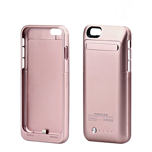 Iphone 6 6s External Battery Charger Case, Ultra Slim Backup Power Bank Rechargeable Cover charging Case 4.7inch with a kickstand(3500mah rose gold) (Hello Kitty Iphone 6 Car Charger compare prices)