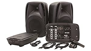 Gemini ES Series ES-12TOGO Professional Audio DJ 12-inch Woofer Active Battery Powered PA Loudspeaker with 2 Wireless Microphones, Bluetooth Compatible