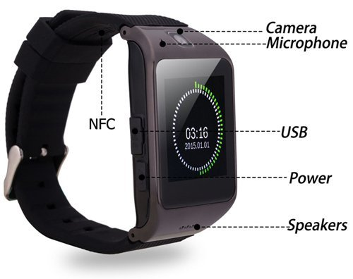 f774d18635b Samsung Champ S3303 COMPATIBLE Bluetooth Smart Watch Phone With Camera and  Sim Card Support With Apps