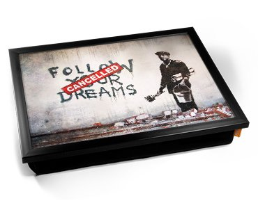Banksy Dreams Cancelled Cushion