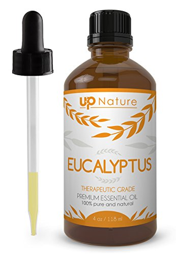 Eucalyptus Essential Oil 4 OZ - UpNature - 100% Pure & Natural, Premium Therapeutic Aromatherapy Grade - With Glass Dropper - Use It To Breathe Easy & Sleep Longer - Perfect For Sauna (Shower Head Essential Oil compare prices)