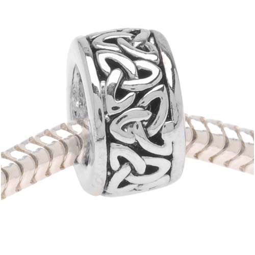 Silver Tone Trinity Celtic Knot Bead - Fits Pandora (1)