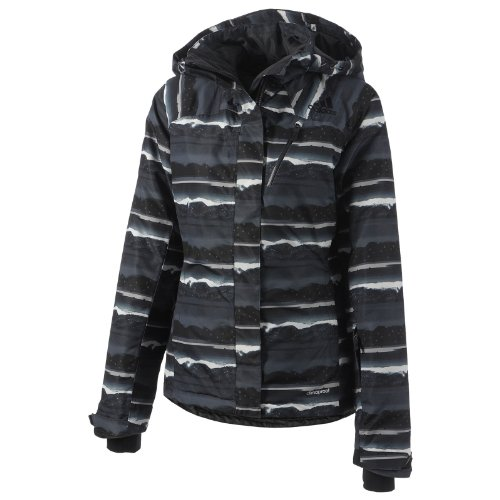 adidas Adidas Winter Allover Print Jacket, Women's Small, Dark Shale